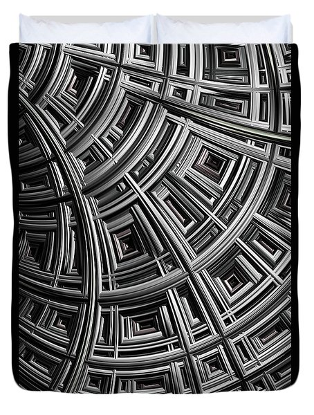 Structure Duvet Cover by John Edwards