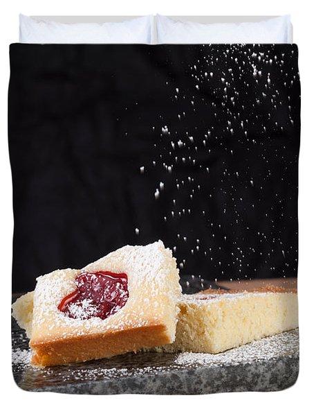 Studio Shot Of Home Made Pastry Duvet Cover