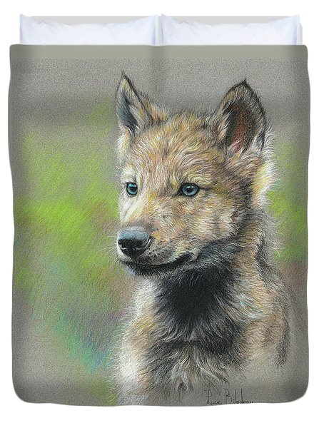 Study - Baby Wolf Duvet Cover