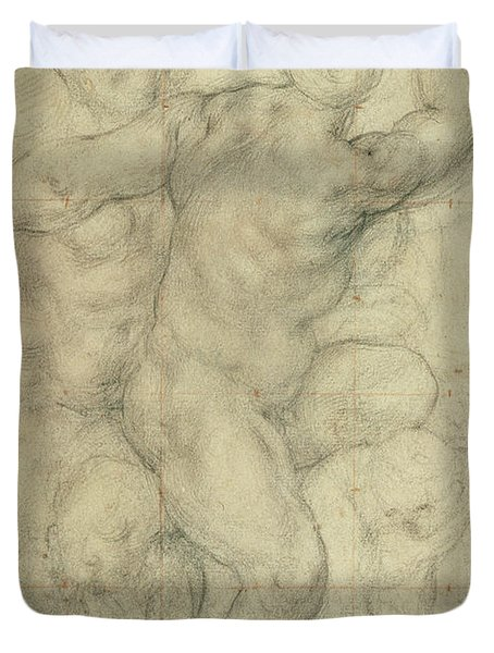 Study For A Group Of Nudes Duvet Cover by Jacopo Pontormo