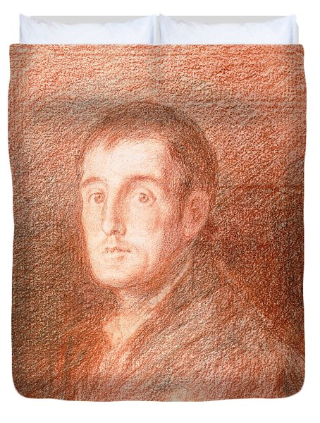 Study For An Equestrian Portrait Of The Duke Of Wellington 1769-1852 C.1812  Duvet Cover