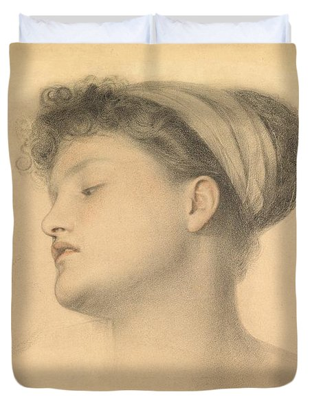 Study For Girl With Doves Duvet Cover by Anthony Frederick Augustus Sandys