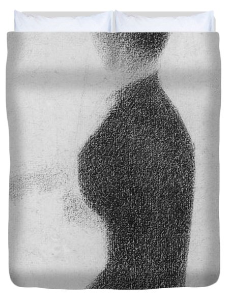 Study For Sunday Afternoon On The Island Of La Grande Jatte Duvet Cover by Georges Pierre Seurat