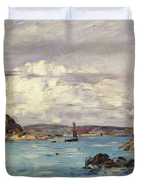 Study For The Bay Of Douarnenez Duvet Cover