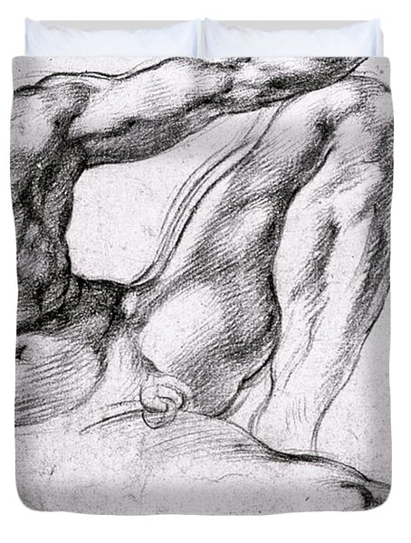 Study For The Creation Of Adam Duvet Cover