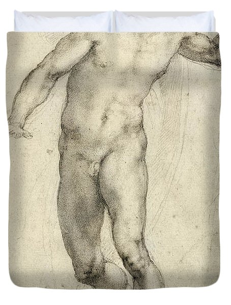 Study For The Last Judgement  Duvet Cover by Michelangelo  Buonarroti