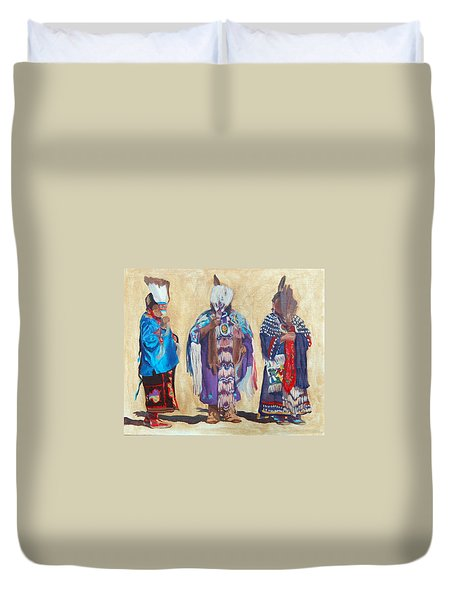 Study For The Three Sentinels Duvet Cover