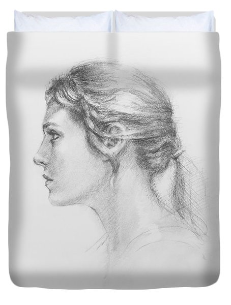 Study In Profile Duvet Cover by Sarah Parks