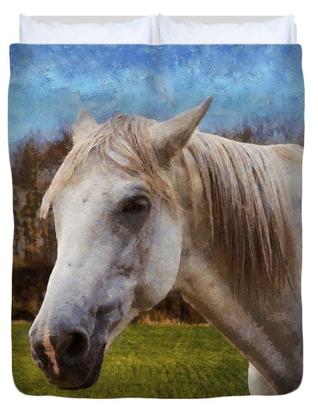 Study Of A Horse Duvet Cover