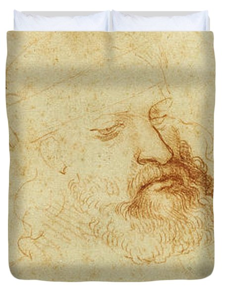 Study Of A Male Head Duvet Cover