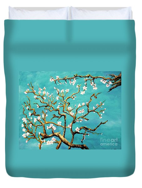 Study Of Almond Branches By Van Gogh Duvet Cover