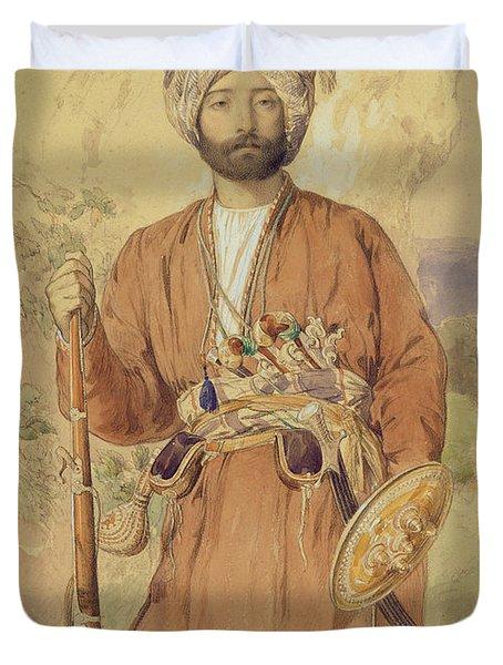 Study Of An Afghan Warrior, Tehran, 1848 Duvet Cover