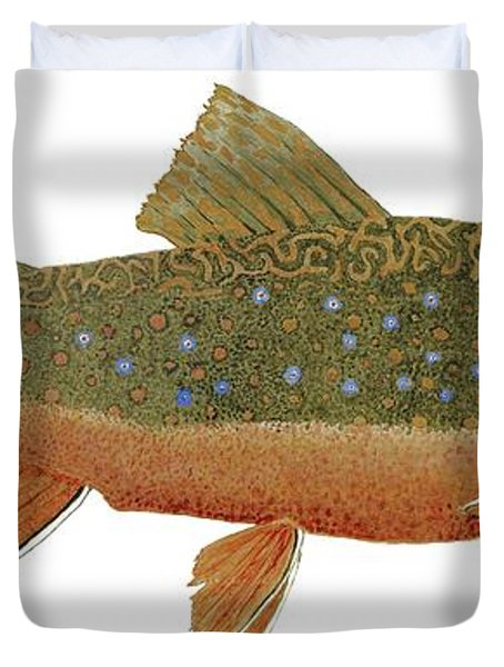 Study Of An Wild Eastern Brook Trout  Duvet Cover