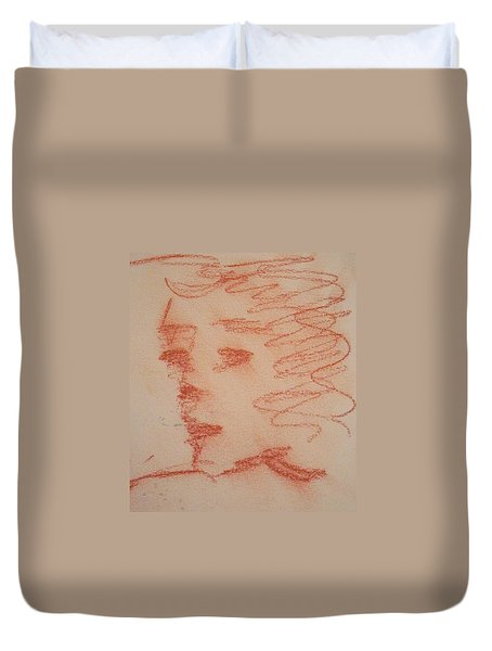 Study Of Sanguine Duvet Cover
