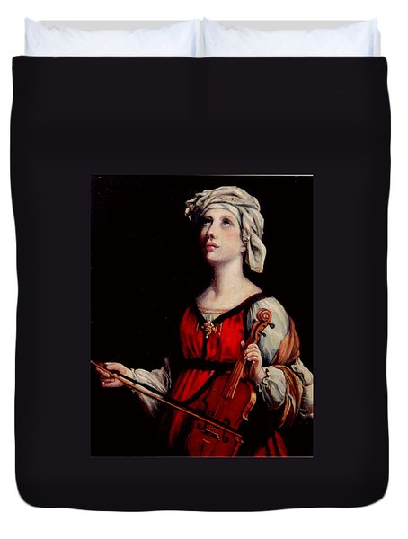 Study Of St. Cecelia Duvet Cover