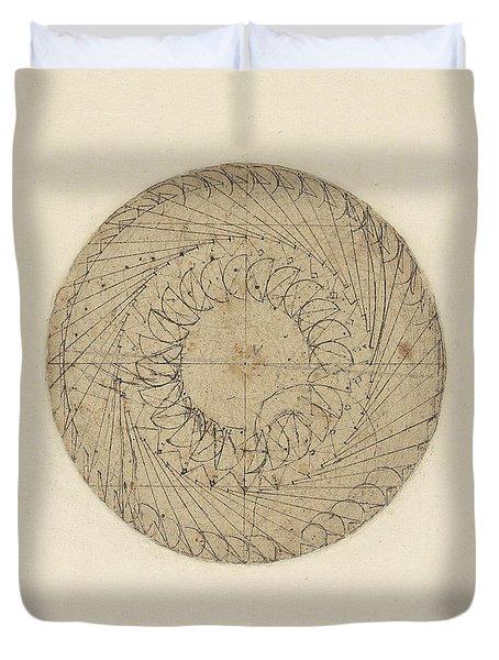 Study Of Water Wheel From Atlantic Codex  Duvet Cover