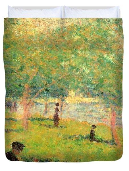 Study On La Grande Jatte Duvet Cover by Georges Seurat