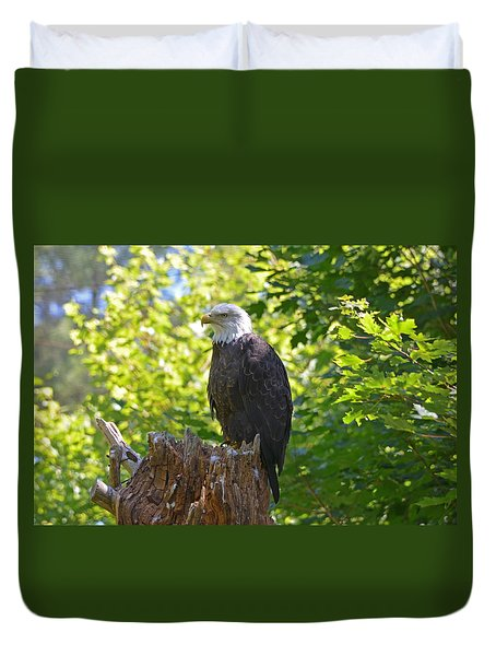 Duvet Cover featuring the photograph Stumped by David Porteus