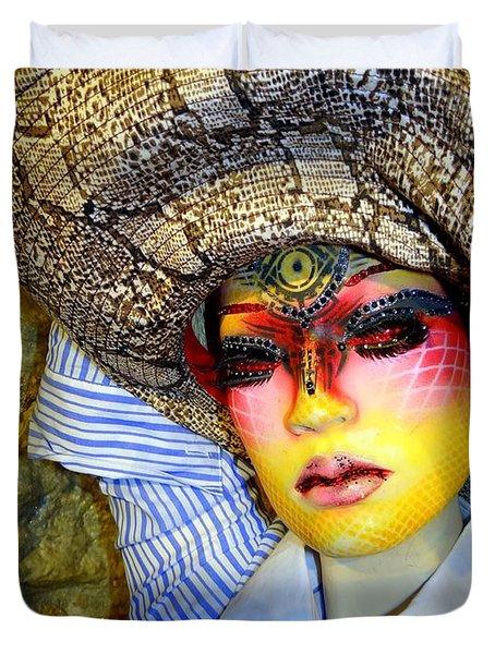 Stunning In Snakeskin Duvet Cover by Ed Weidman