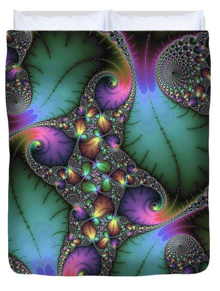 Stunning Mandelbrot Fractal Duvet Cover