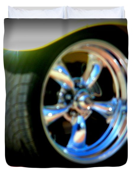 Duvet Cover featuring the photograph Stylin' Wheels by Bobbee Rickard