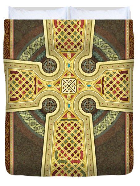 Stylized Celtic Cross Duvet Cover