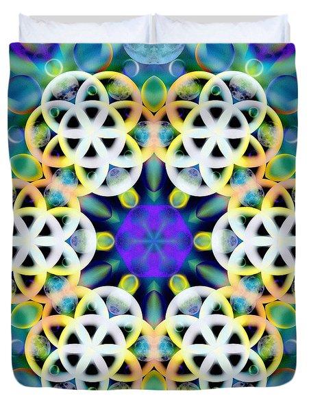 Subatomic Orbit Duvet Cover
