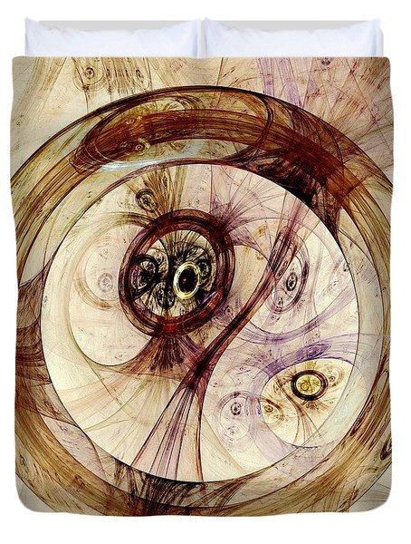 Subtle Ring Duvet Cover by Anastasiya Malakhova