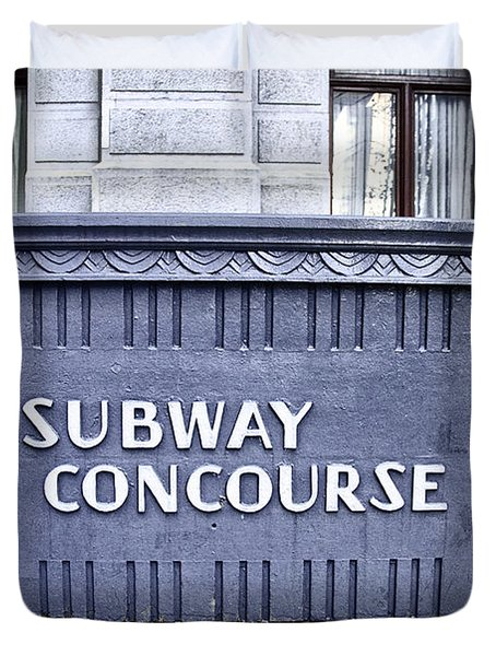 Subway Concourse At City Hall Duvet Cover by Bill Cannon