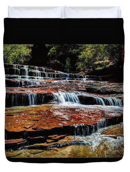 Subway Falls Duvet Cover by Chad Dutson