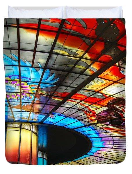 Subway Station Ceiling  Duvet Cover