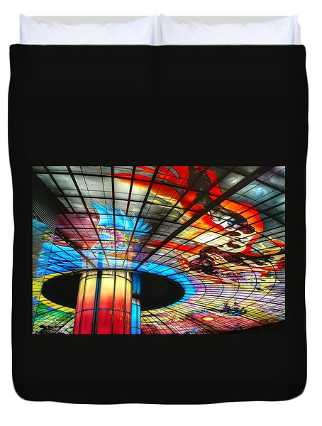 Subway Station Ceiling  Duvet Cover