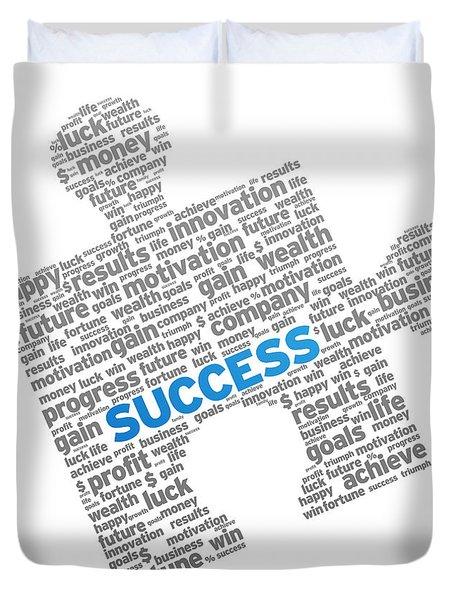 Success Puzzle Duvet Cover