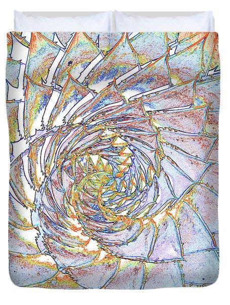Succulent Spiral No.1 Duvet Cover