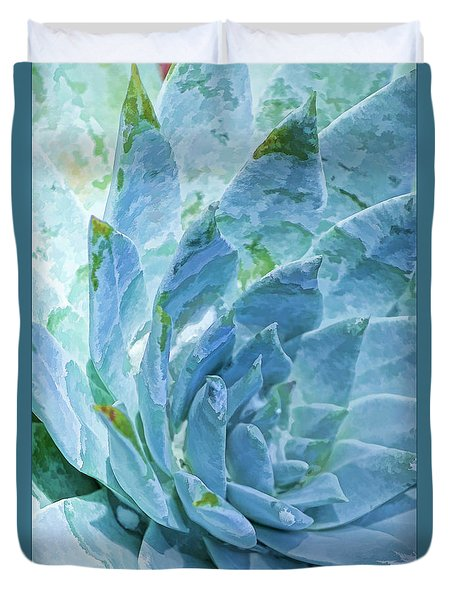 Succulent Swirl Duvet Cover