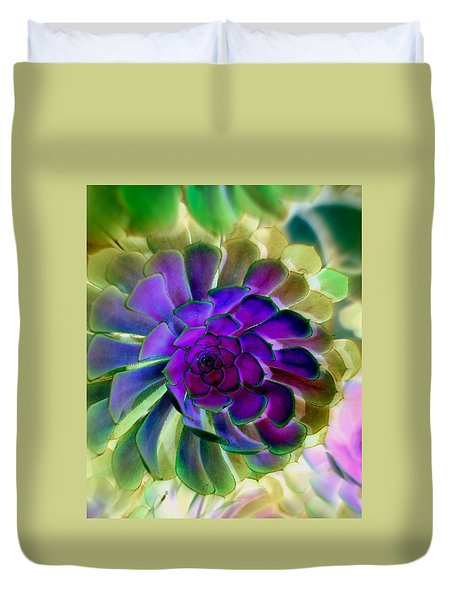 Succulent Transformation Duvet Cover