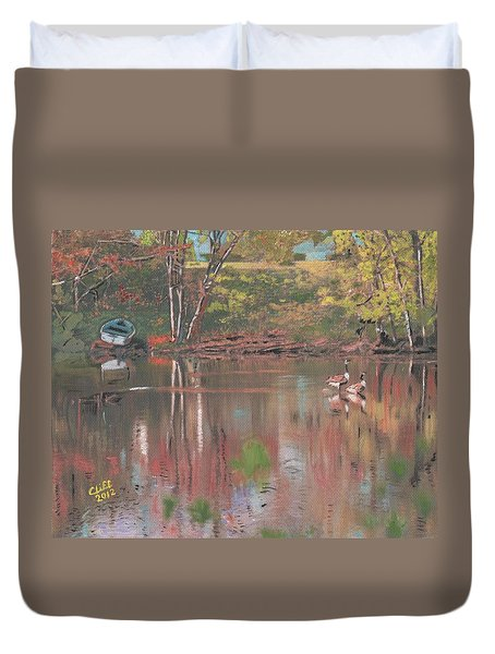 Sudbury River Duvet Cover