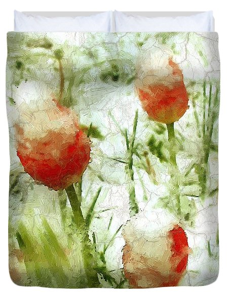 Suddenly Snow Duvet Cover by RC deWinter