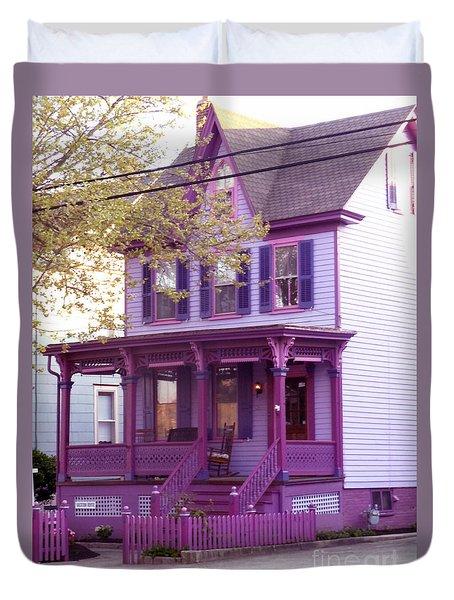 Sugar Plum Purple Victorian Home Duvet Cover by Kristie Hubler