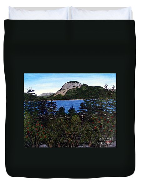 Sugarloaf Hill Duvet Cover by Barbara Griffin