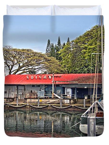 Suisan Fish Market Duvet Cover