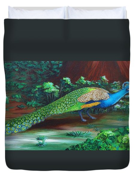 Suitors - Strolling Duvet Cover by Katherine Young-Beck