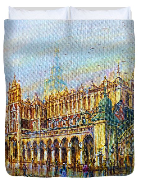 Sukiennice In Cracow Duvet Cover
