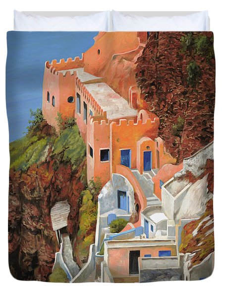 sul mare Greco Duvet Cover by Guido Borelli
