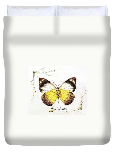 Sulphurs - Butterfly Duvet Cover