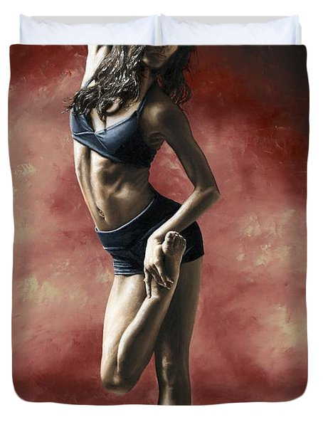 Sultry Dancer Duvet Cover by Richard Young