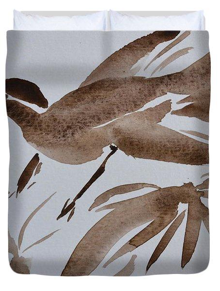 Sumi Bird Duvet Cover by Beverley Harper Tinsley