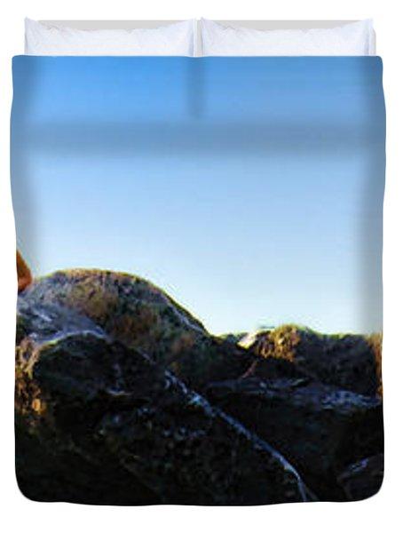Duvet Cover featuring the photograph Summer Adventure by John Hansen
