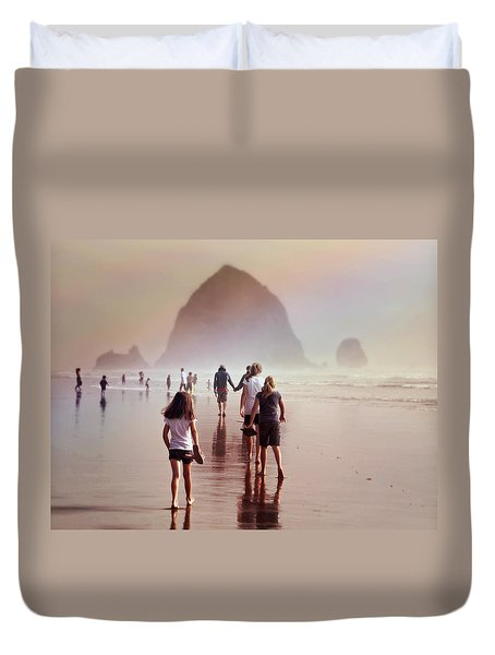 Summer At The Seashore  Duvet Cover