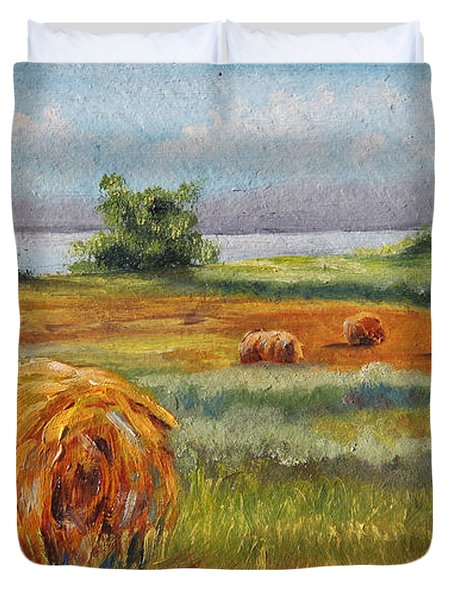 Summer Bales Duvet Cover by Meaghan Troup
